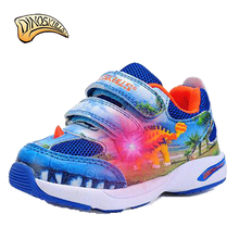 Dinoskulls Kids Sneakers Boys Fashion Sports Shoes Children'S Leisure Soft Breathable Running Girls Shoes 3D Dinosaur Shoes(China)
