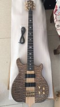 5 strings bass guitar;gold hardware;Thru maple neck;quilted maple top;free shipping(China)