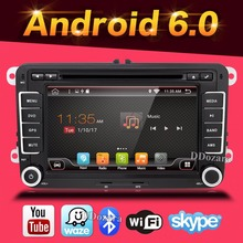 Android 6.0 car dvd player gps navigation for Volkswagen skoda yeti superb rapid fabia octavia car video player radio gps 2 din(China)