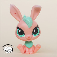 CW006 Pet Shop Animal Pink rabbit doll action Figure(China)