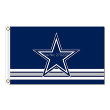 Polyester Dallas Cowboys Flags Blue Star Jersey Football Flag World Series 2016 3ft X 5ft Premium Team Banner Dallas Cowboys(China)