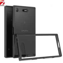 Buy Sony Xperia XZ1 Compact Case 4.6'' Crystal Hybrid Bumper Clear Hard Acrylic Back Cover Xperia XZ1 Compact Phone Cases for $3.98 in AliExpress store
