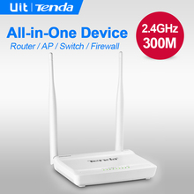 English or Russian Firmware Tenda N630 V2 Wireless WIFI Router 300Mbps 802.11 b/g/n point signal booster 5 ports router for SOHO