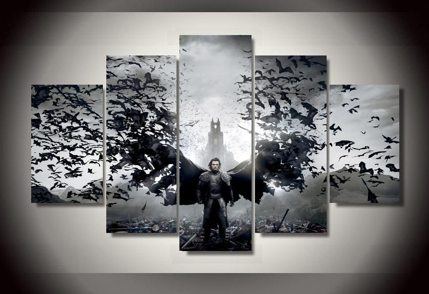 5 Piece Wall Art compare prices on dracula wall art- online shopping/buy low price