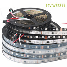 DC12V 2811IC SMD5050 RGB Flexible addressable 30/48/60leds/m ws2811 led pixels strip lights tape external ic,1 ic control 3 leds