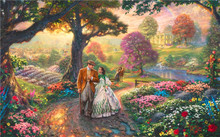 Thomas Kinkade Oil Paintings Gone with Wind Art Decor Painting Print Giclee Art Print On Canvas