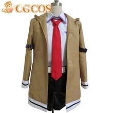 CGCOS Free Shipping Cosplay Costume Steins Gate Makise Kurisu New in Stock Retail/Wholesale Halloween Christmas Party Uniform