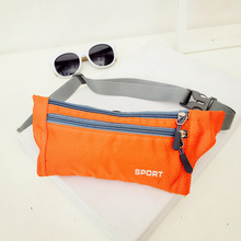 Waterproof Women Men Waist Packs Unisex Nylon Zip Bag Waist Pack Pouch Travel Belt Bag