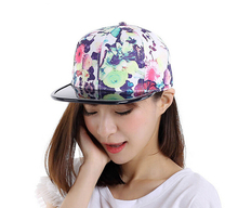 3pcs/Lot Fashion Branded Flower Printed Baseball Caps for Women Quality Floral Snapback Hats for Spring Summer Wholesaler Online(China)