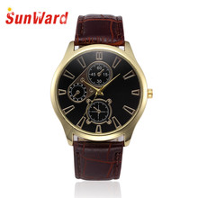 Relogio masculino Quartz Wrist Watch Retro Design Leather Band Analog Alloy Hot Marketing Horloge 17Apr18(China)