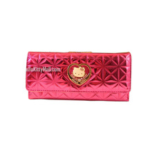 Hello Kitty  2016 Embossing Patchwork Wallet Waterproof and scratch PU Three Kinds Of Design Can Choose
