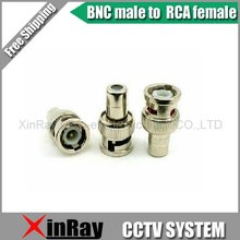 Free Shipping ,High Qality 20pcs,BNC male to RCA female adapter bnc connector ,CCTV Camera Accessories Wholesale XR-AC10(China)