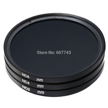 37mm 40.5mm 43mm 46mm 49mm ND Filter Neutral Density ND2 ND4 ND8 for canon nikon sony pentax camera Lens(China)