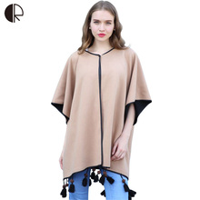 2016 Women Scarf Luxury Brand European Brown Black Double-Sided Women Poncho Cape Pashmina Retro Scarves AM276