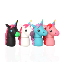 Cartoon Cute Horse USB Flash Drive Pen Drive 4GB 8GB 16GB 32GB Black Horse USB Stick External Memory Storage Pen Drive Gift