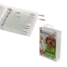 Pet Accessories Dog Cat Eye/Oral/Ear Cleanser Tears Removes Dirt and Wax Disposable Double Head Health Care Cotton Swab Stick(China)