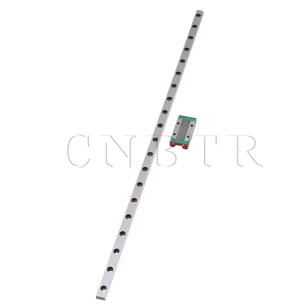 CNBTR 400mm Length Bearing Steel Linear Sliding Guide Slide Rails &amp; MGN9 Linear Extension Block for CNC 3D Printer <br>