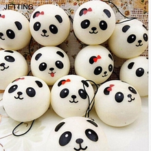 JETTING Jumbo Panda Squishy Charms Kawaii Buns Bread Cell Phone Key/Bag Strap Pendant Squishes Car Styling Decoration