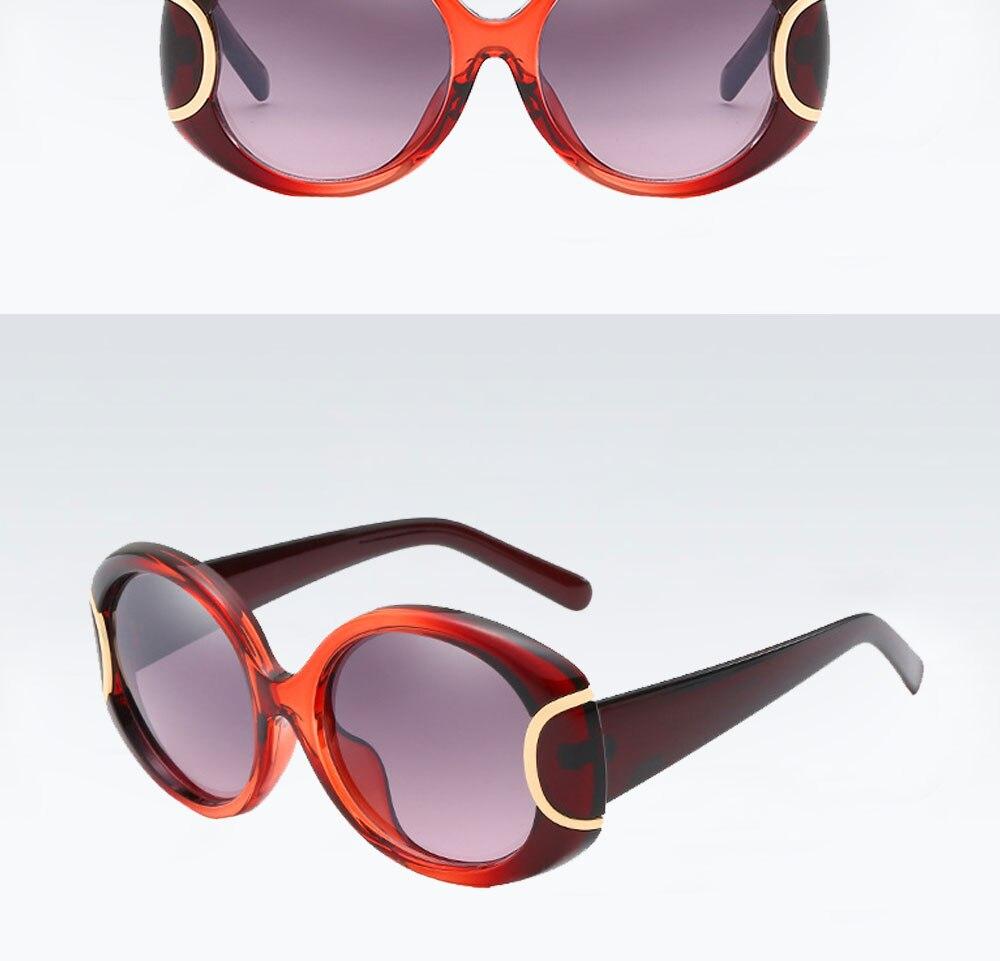 VEGA Eyewear Fashion Oval Sunglasses Women for Big Face Ladies Oversized Glasses with  ( (11)