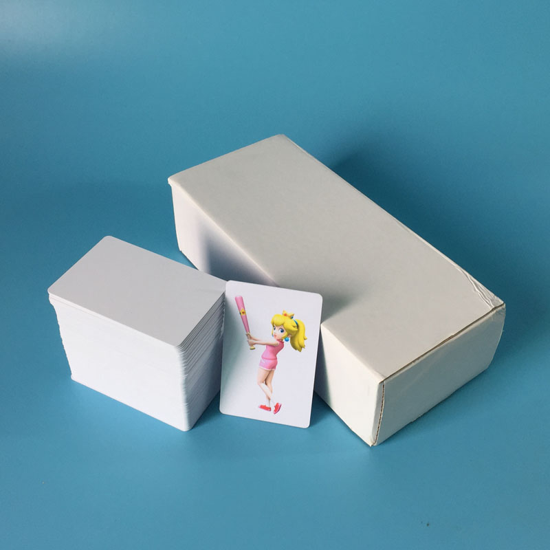 Inkjet id card printing tray for canon m tray printer ts9070 ts8060 100pcs glossy white blank inkjet printable pvc card waterproof plastic id card business card no chip reheart Image collections