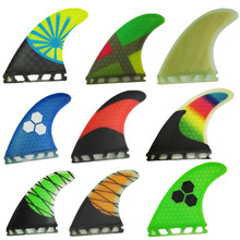 srfda free shipping fiberglass and honeycomb  greeen Blue surfboard fin thruster Future fin surf fins size S/ M/L fins  Top qual