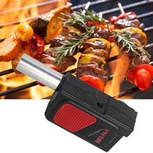 Camping Electrical Cooking BBQ Fan Air Blower For Barbecue Fire Bellows Picnic Travel Kit(China)