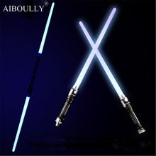 2pcs/set Star Wars  Led Flashing Light Sword Toys Cosplay Weapons Double Sabers kids toys