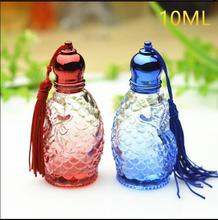 10ml Glass Roll On Perfume Bottle  Women Perfume Silver Cap Empty Bottles 2017 New The Best Present Free Shipping