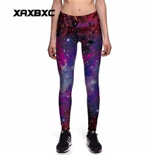 Buy XAXBXC 0131 New Sexy Girl Slim Pants Rainbow Galaxy Constellation Prints High Waist Workout Fitness Women Leggings Plus Size for $9.00 in AliExpress store