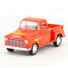 1:32 Kinsmart Model Truck Toy 12.5cm Die cast Flame Version Trucks Car Simulation Van Cars Dinky Toys For Children Juguetes Gift