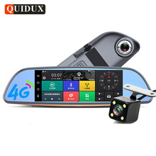 QUIDUX 6.86 inch 4G Android Car DVR ADAS Alarm Dash Cam GPS Navigation WiFi Car Rearview mirror With rear Camera Bluetooth Call(China)