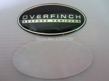 2pcs/lot OVERFINCH BESPOKE VEHICLES Emblem Aluminum Sticker for Rover Defender Discovery Freelander Evoque Auto series