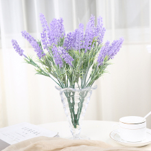 Romantic Provence Decoration Lavender Flower Silk Artificial Flowers Grain Decorative 7 Head 30cm Length Vivid Leaf Fake Flower