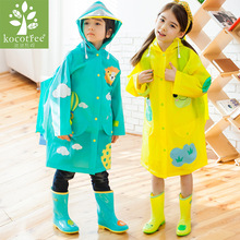 Students Raincoat With School Bags Cool Children RainCoat Kids rain pocket Jacket Waterproof Rain Coat Suit Children Raincoat
