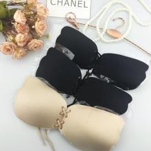 Invisible bra underwear collection rope wings pull chest sexy bras(China)