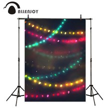Allenjoy photo backdrop Lantern colorful decorating party new baby photocall photo printed new born photography vinyl background(China)