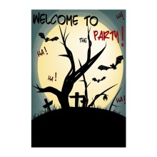 Welcome To The Halloween Party Garden Flags Designed With Double Sided Decorative Banners Outdoor And Indoor Flag