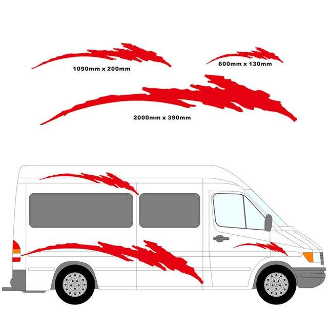 2 mt wohnmobil vinyl streifen grafiken kit aufkleber decals set reisemobil wohnmobile wohnwagen wohnwagen horsebox