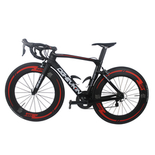 New Arrival 700C 22 speed  Carbon Road Bike Complete Bicycle UD 59-39T Glossy/Matte Powerway R36 BB386 Di2 SH1MANO ultegra 6800