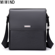 MIWIND Brand PU Leather Men Bags Fashion Male Messenger Bags Men's Small Briefcase Man Casual Crossbody Shoulder Handbag TBN096