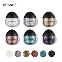UCANBE Brand 6 Colors Body Glitter Paste Cream Makeup Shimmer Sparkle Face Hair Hand Highlighter Paint Gel Cosmetics Shadow Set(China)