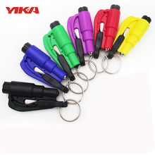 2017 YIKA Emergency Life Car Safety Hammer Glass Window Breaker Tool Cut Auto Seat Belt Car Key Ring(China)