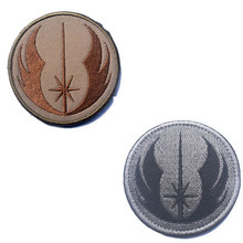 7.6CM Jedi order STARWARS Star Wars embroidery the tactical military patches badges for clothes clothing HOOK&LOOP outdoor