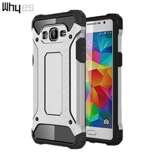 Whyes For Samsung Galaxy Grand Prime Case G530 High Quality Plastic Fashion Design 2 In 1 Hybrid Soft Silicone Popular Case(China)