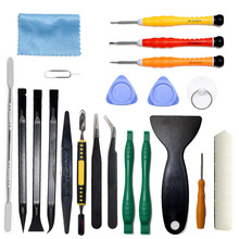 21 in 1 Mobile Phone Repair Tool Kit Spudger Pry Opening LCD Screen Tool Set Antistatic Tweezers Disassembly For iPhone For iPad(China)