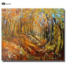 CHENFART Oil Painting Impressions of Autumn Landscape Wall Picture for Living Room Home Decor no Frame(China)