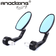 "7/8"" Handlebar Side end Mirrors Rearview Mirrors Cruisers Choppers Motorcycle accessories Street Bikes Aluminum Stem(China)"