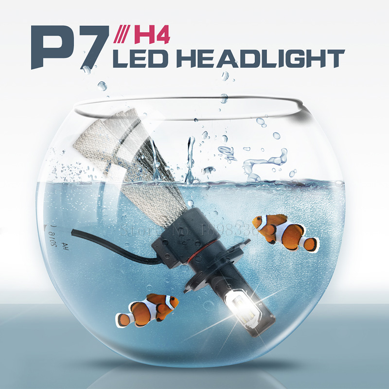 1Pair All-in-One P7 H4 Car Led Front Headlight Fog Lights 60W 9600Lm Hi/Lo Beam White 6000K Super Bright DC9V-30V Auto Headlamp<br><br>Aliexpress