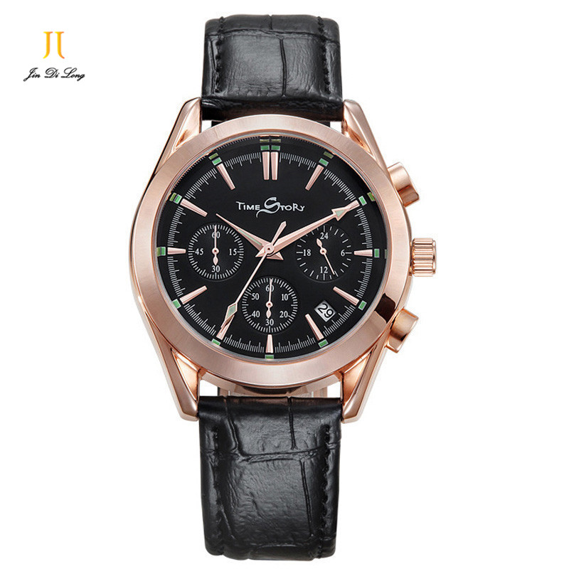 Brand Fashion Casual Sport Watches Men Clock Quartz-Watch Business Wristwatch Calendar Chronograph Waterproof 50M Montre Homme<br><br>Aliexpress