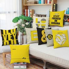 Creative Home Furnishing Decoration Throw Pillow Geometric Letters Fashion Sofa Cushions Office Leisure Cushions 45*45CM